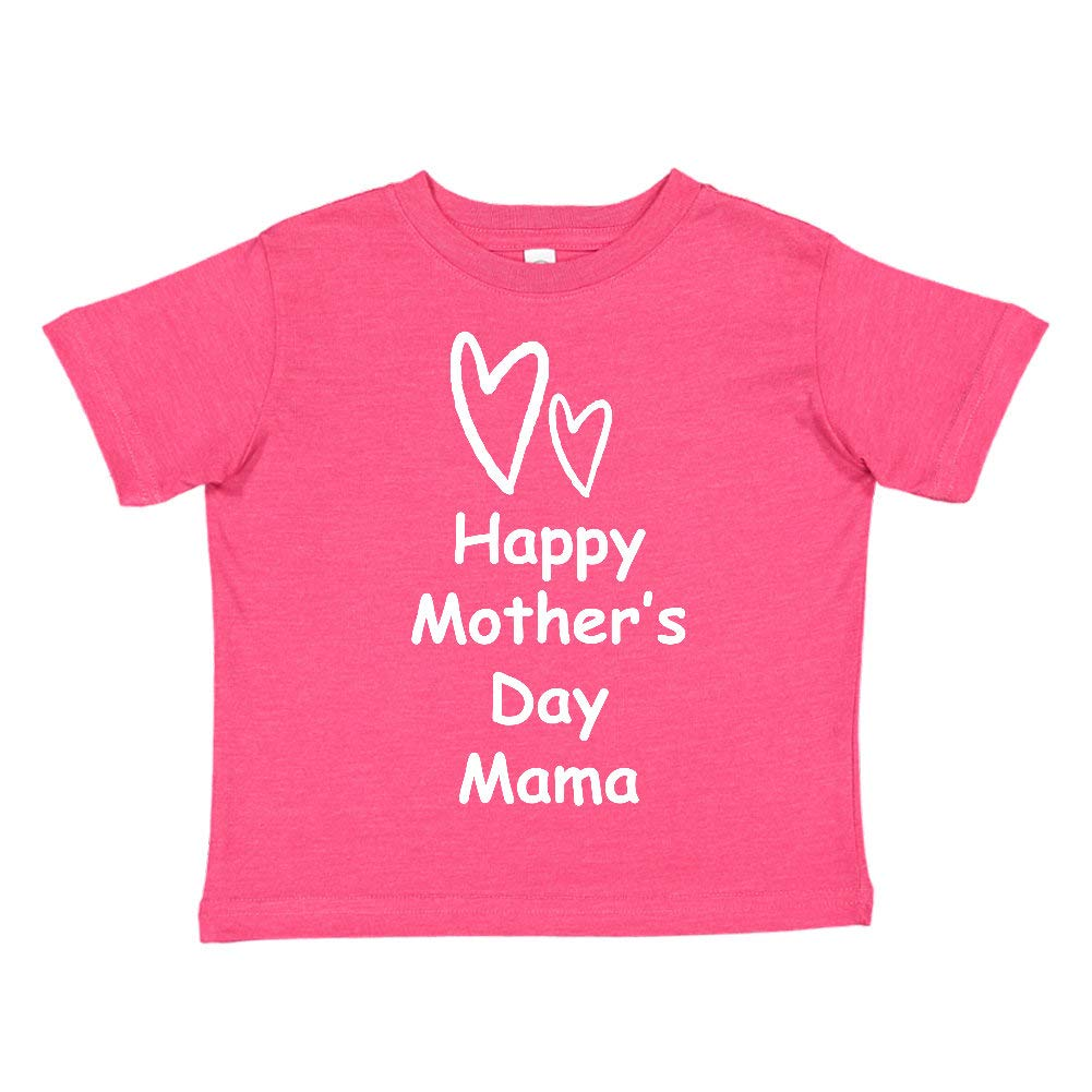 Happy Mothers Day Mama Toddler//Kids Short Sleeve T-Shirt Two Hearts