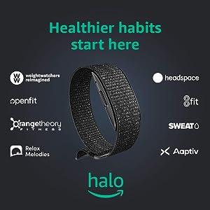 Amazon Halo – Measure activity, sleep, body composition, and tone of voice - Black + Onyx - Medium
