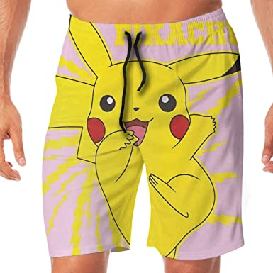 DailiH Swim Trunks Pokémon Lindo - Pikachu Pantalón de Playa ...