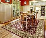 Gertmenian 78136 Traditional Rug Platinum High Density Persian Carpet, 9′ x 13′ X Large, Golden Red Border For Sale