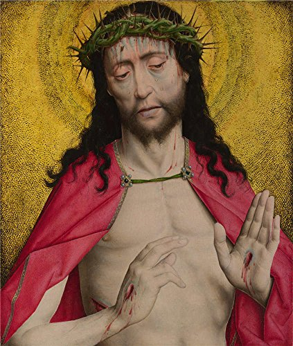 [Oil Painting 'Dirk Bouts-Christ Crowned With Thorns,about 1470' 12 x 14 inch / 30 x 36 cm , on High Definition HD canvas prints is for Gifts And Dining Room, Hallway And Nursery] (China National Costume Name)