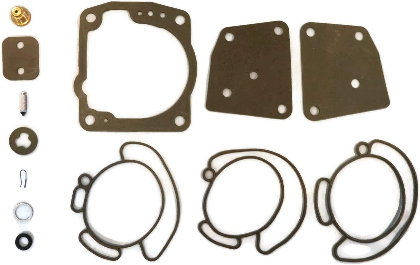 The ROP Shop | Carburetor Repair Kit for Mallory 9-37102, OBR Red Rhino JE-C96 Outboard Engines