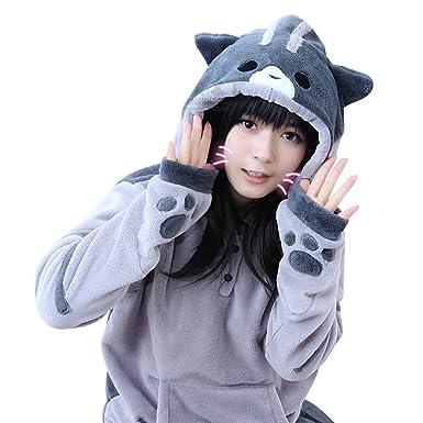 Amazon Com Tomori Anime Sweatshirt Neko Atsume Hoodie Cute Cat