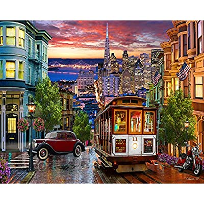 Vermont Christmas Company San Francisco Trolley Jigsaw Puzzle 1000 Puzzle: Toys & Games