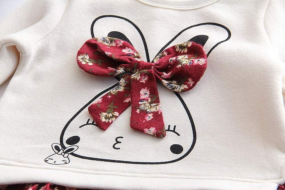 Logobeing Ropa De Bebe Ni/ña 2-6 A/ños Princesa Floral Conejo de Dibujos Animados Conejito Princesa de Dibujos Animados Vestido de Fiesta Ropa de Vestir