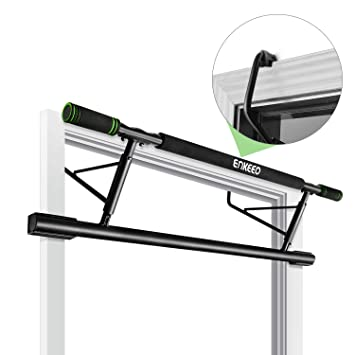 75c151e2070 ENKEEO Doorway Pull-Up Bar Fitness Chin-Up Frame for Home Gym Exercise