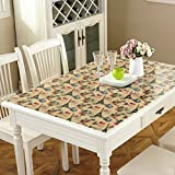 Pvc,waterproof table cloth/ burn-proof, soft glass table mat /frosted coffee table pad/ plastic tablecloths/transparent,crystal plate table mat-F 90x160cm(35x63inch)