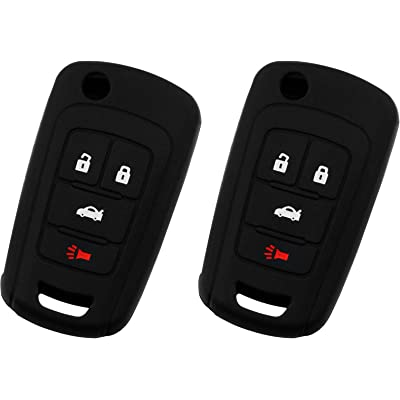 KeyGuardz Keyless Entry Remote Car Key Fob Outer Shell Cover Soft Rubber Protective Case For Chevy Buick GMC OHT01060512 (Pack of 2): Automotive