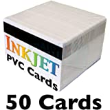 """Inkjet PVC Cards with 1/2"""" HiCo Magnetic Stripes - Brainstorm ID's Enhanced Ink Receptive Coating, Waterproof & Double Sided Printing, For Epson & Canon Inkjet Printers (50 Inkjet Printable ID Cards)"""