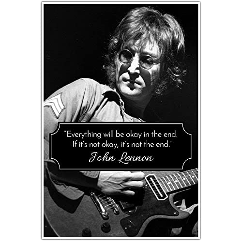 Amazon Not The End John Lennon Quote Wall Art Poster Handmade