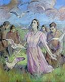 Miracle of the Gulls - By Minerva Teichert - Mormon LDS Art