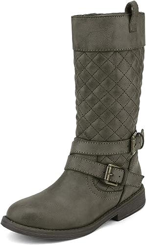 Smart.A Girls Princess Style Long Waterproof Leather Riding Boots