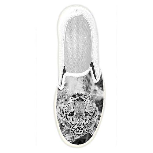 45 Dalliy Personalizado Leopardo de Nieve Las Zapatillas Para Hombre Zapatos negros Little Mary para bebé Vans Atwood Zapatillas w66w2QdVq
