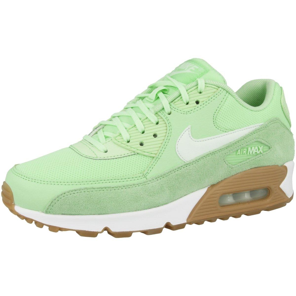 Nike Women's Air Max 90 Running Shoe (6, MintBarely Green Gum Light Brown)