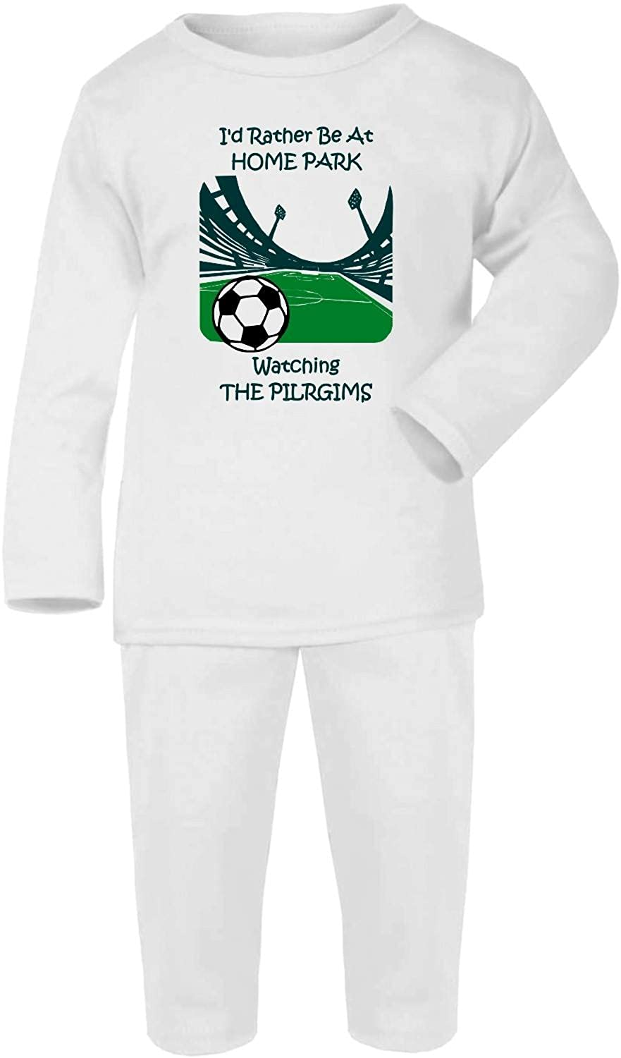Hat-Trick Designs Plymouth Argyle Football Baby Pyjamas set PJs Nightwear/Sleepwear-I'd Rather Be-Unisex Gift