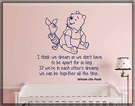 com winnie the pooh wall decal disney quote sayings