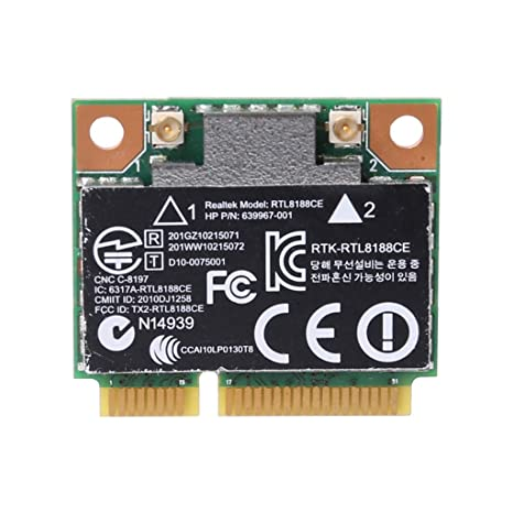 HP RealTek RTL8188CE Half Mini PCIe Wireless Wlan Card 802 11 b/g/n  639967-001 640926-001