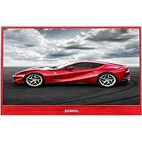 JOHNWILL 13,3-Zoll-Typ-c-Roter tragbarer Monitor, Ultra HD 1920 x 1080 IPS-LCD/LED-Anzeige, HDMI/Zwei-Typ-C (USB C) eingebauter Lautsprecher, Spielmonitor