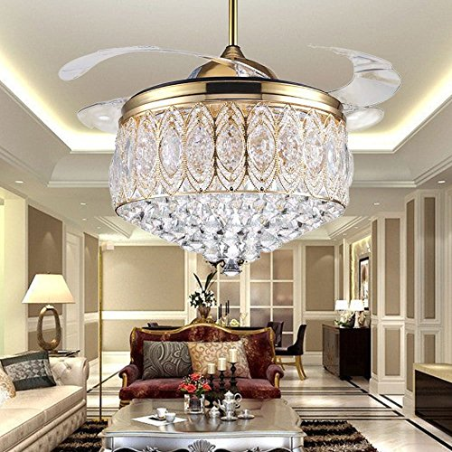 COLORLED Simple Modern Artistic 42-Inch Crystal Ceiling L...