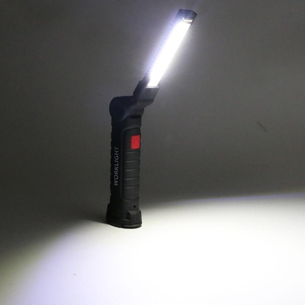 TianranRT Multifonctions sans Fil LED Lampe de Poche LED USB Rechargeable 3/Modes magn/étique Lampe Torche Lampe dinspection Flexible pour r/éparation de Voiture Mains Libres COB