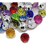10 BOUTONS FANTAISIES STRASS MULTICOLORE 12 mm - 2 TROUS - CREATION COUTURE SCRAPBOOKING