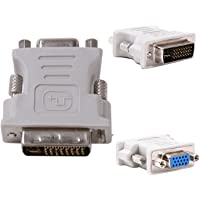 Storite® DVI-I Dual Link Male 24+5pin to 15 pin VGA Female Adapter for Dual Monitor Display