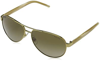 Ralph 4004 101-13 Gold and Cream 4004 Aviator Sunglasses Lens Category 2