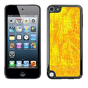 MOBMART Carcasa Funda Case Cover Armor Shell PARA Apple iPod Touch 5 - Shiny Yellow Design