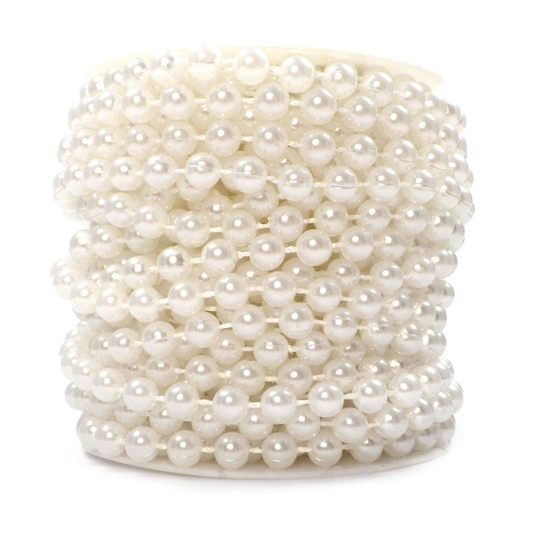 10m Perlenkette 8mm Perlengirlande Perlenschnur Hochzeit Weihnachtsbaum Deko