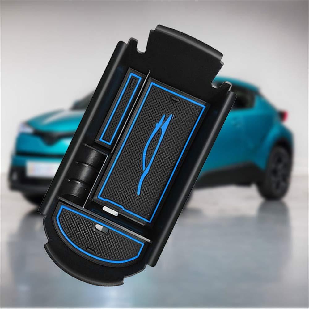 Bleu Accoudoir Int/érieur de voiture Central Console Accoudoir Bo/îte Personnalis/é Titulaire de lorganisateur Console organisateur Bac dinsertion Accessoire de voiture