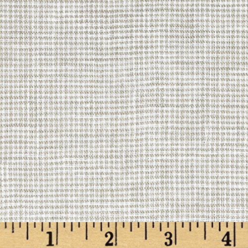 TELIO Umbria Linen Taupe Check Fabric By The Yard (Umbria Linen)
