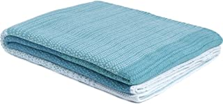 product image for Eco Poly Digital Ombre Throw- Ultra Luxury Outdoor Blanket, Made in USA (Water/Mint)