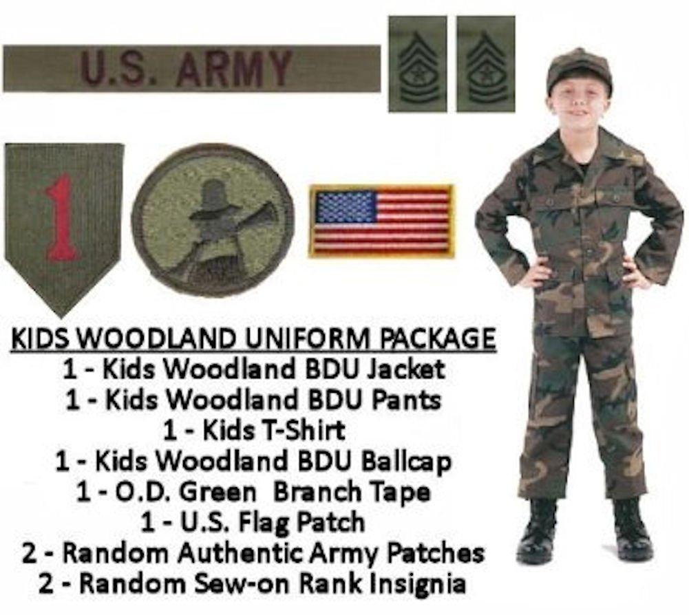 Amazon.com Kids Woodland BDU Military Uniform Army Costume (XL) Toys u0026 Games  sc 1 st  Amazon.com & Amazon.com: Kids Woodland BDU Military Uniform Army Costume (XL ...