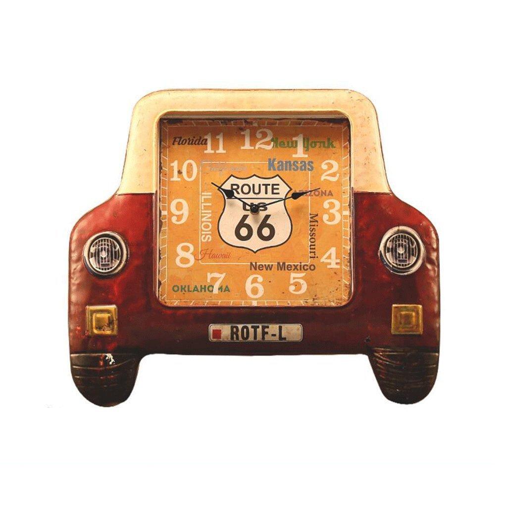 GAOLILI 車のヘッドLEDの壁時計のベッドルームペンダントの装飾的な壁の時計のベッドルームのミュートの壁時計 ( 色 : F(No LED) ) B07C3SGKLM F(No LED) F(No LED)