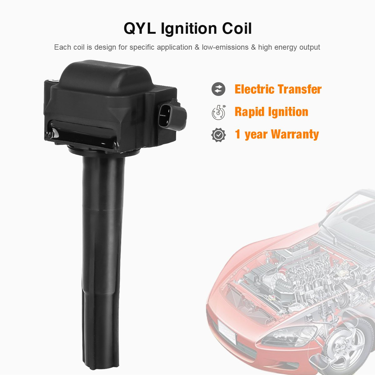 QYL Park of 3Pcs Ignition Coils Replacement for Toyota Solara Avalon Camry  Sienna/Lexus ES300 #UF155 9091902215 5C1488 IC267