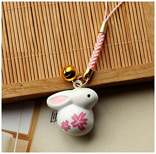 [POJ Japanese style Strap with Bell [ Rabbit Cherry Design ] Japan kimono Cosplay] (Disney Group Costumes Ideas)