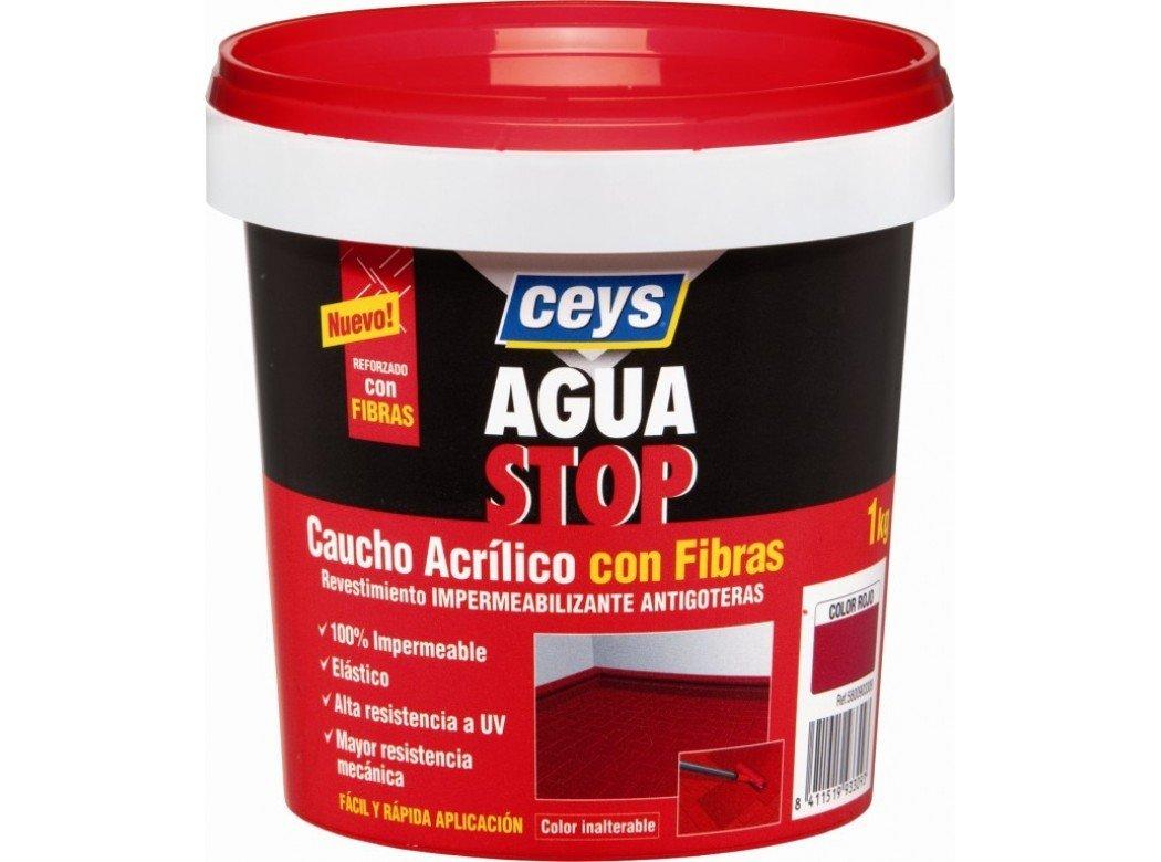 Aguastop Ceys M92283 Impermeabilizante aquastop caucho acrilico con fibras rojo 1 kg product image