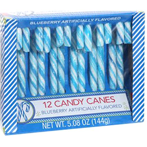 Blueberry Candy Canes - 12 Count (blueberry, 4 pack)
