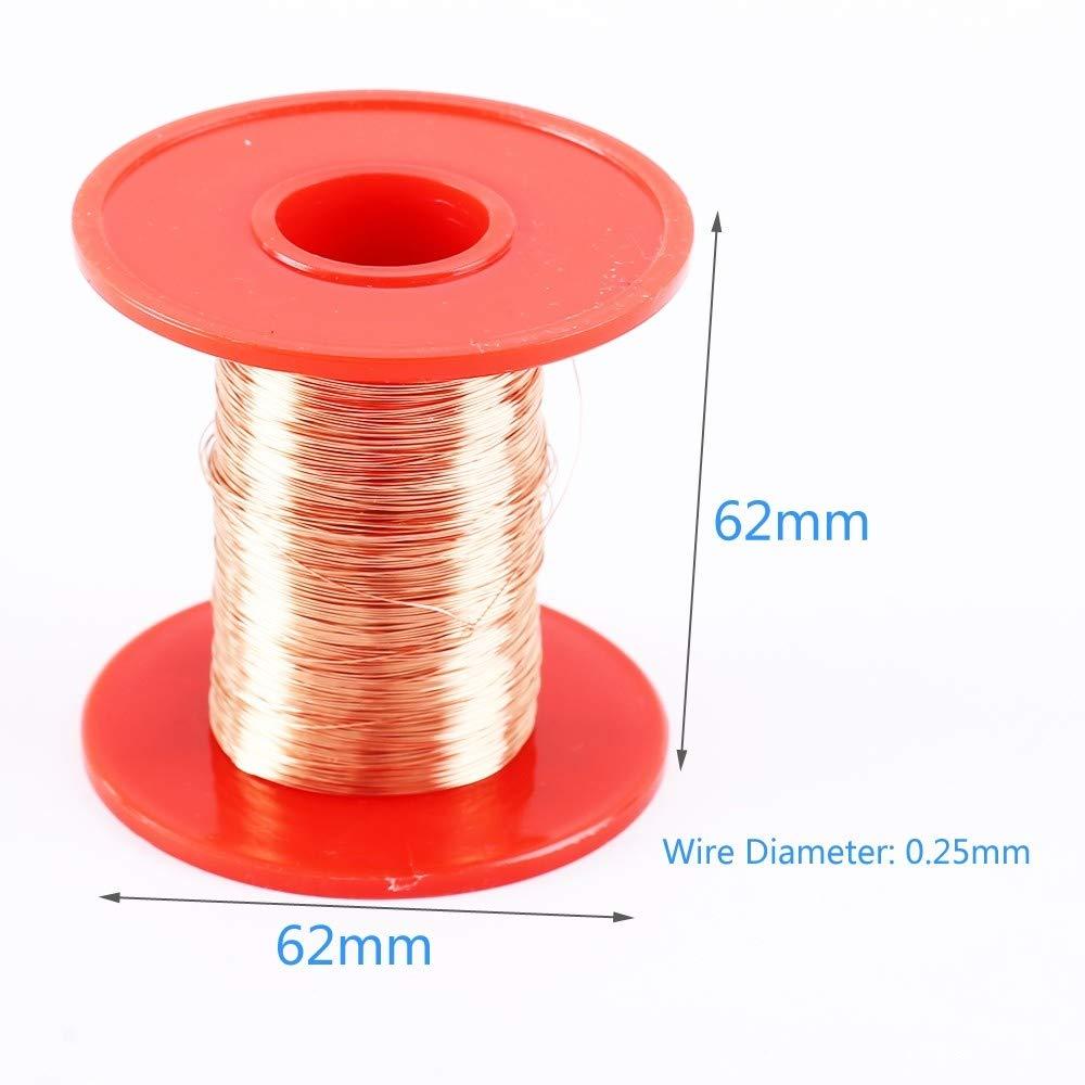Alambre de cobre de 0,25 mm 100 g de alambre de cobre esmaltado de poliuretano para bobina de inducci/ón de alambre de transformador