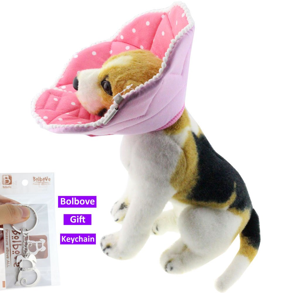 Bolbove Pink Dots Pet Soft & Stylish Cone Recovery E-Collar for Dogs & Cats (5#) by Bolbove (Image #4)