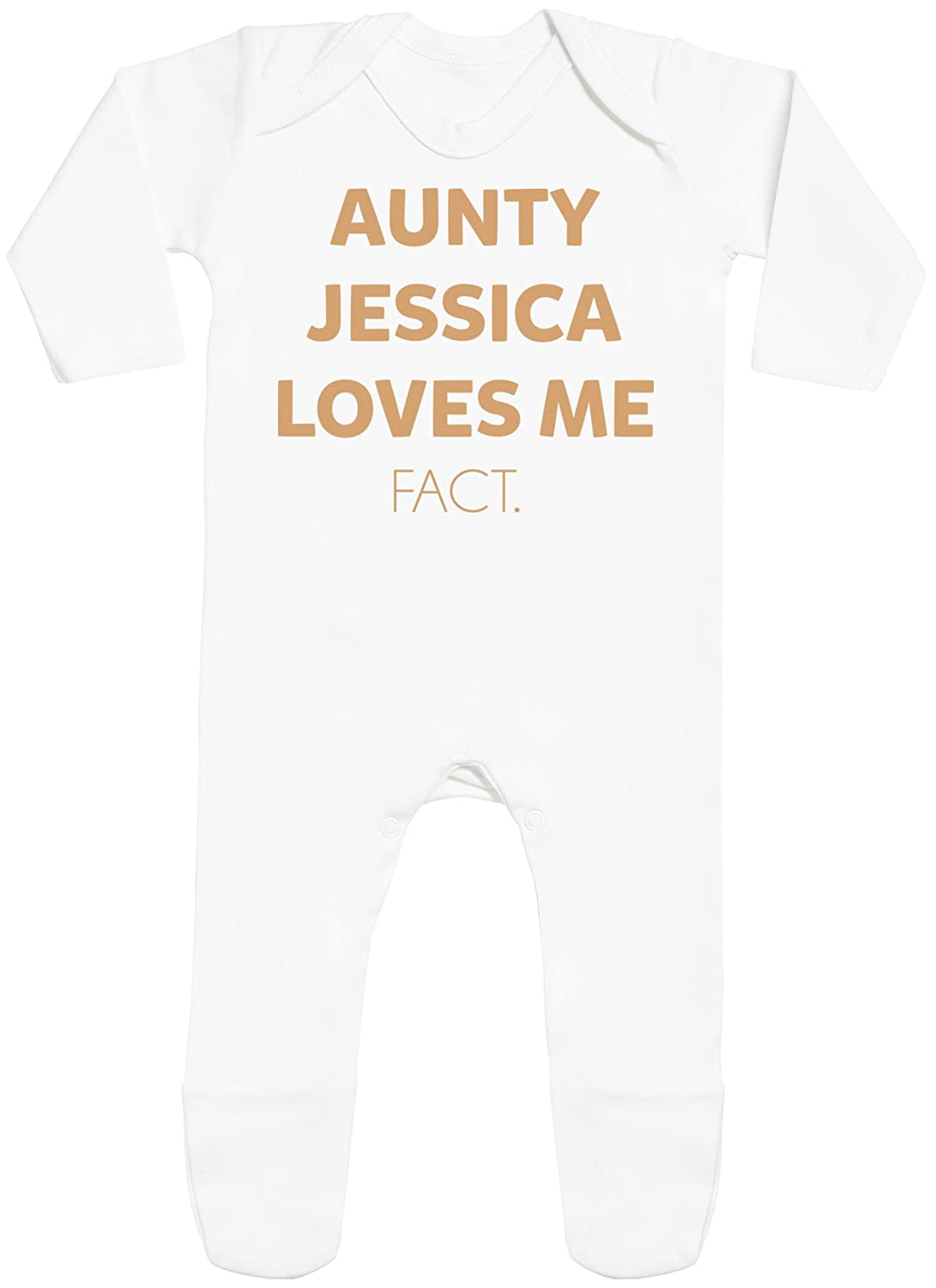 Spoilt Rotten Personalizados bebé Aunty Custom Loves Me Fact with Feet - Peleles Personalizados para bebé - Regalos Personalizados para bebé: Amazon.es: ...