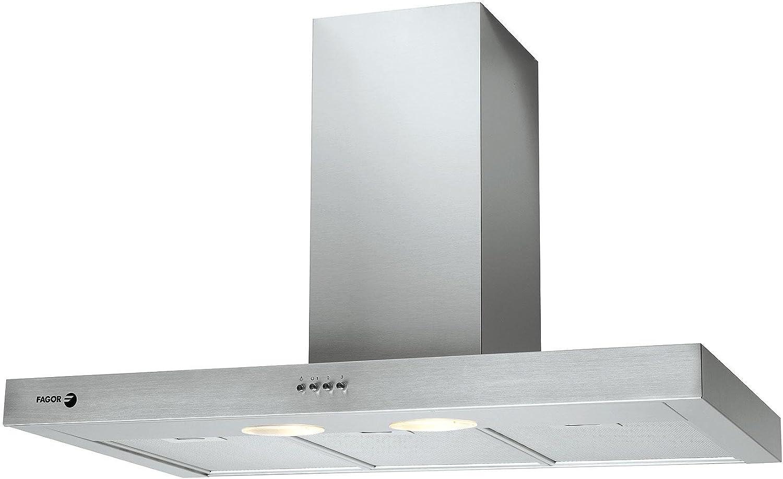 Fagor 6CDB-90 X 600 m³/h De pared Acero inoxidable - Campana (600 m³/h, Canalizado, De pared, Acero inoxidable, Acero inoxidable, 2 bombilla(s)): Amazon.es: Hogar