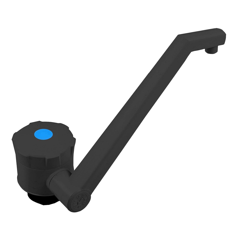 90 g Bauh/öhe: 135 mm ABS Kunststoff schwarz Novo 12v Wasserhahn mit Tauchpumpe f/ür Wohnmobil Wohnwagen