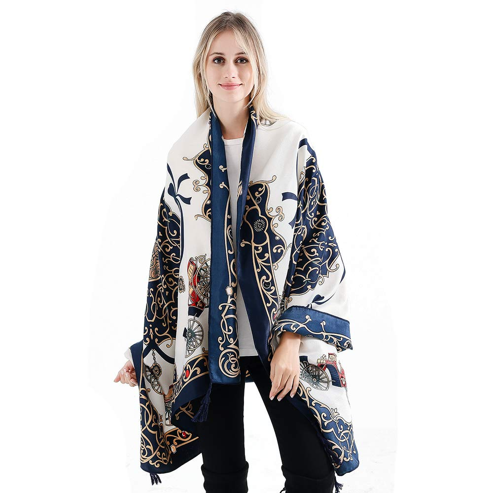 21 VISAER Womens 100% Twilled Cotton Fleeing Long Fashion Designer Scarf Travel Pashmina Tassel Bohemia Shawl Wrap