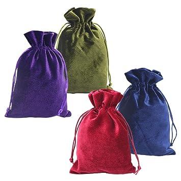 Amazon.com: HRX Paquete de bolsas de regalo de terciopelo ...