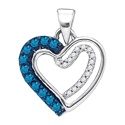 Valentine Heart Pendant White Gold Fn Simulated Diamond With 18 Box Chain
