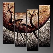 Decoración- ?gran tamaño -el amor Canción? pinturas al óleo elegante de Arte Moderno de la lona para la pared decoración para el hogar-abstractos para decoraciones de pared Inicio Framed Canvas Wall Art listo para colgar Pintura abstracta en la lona para la pared