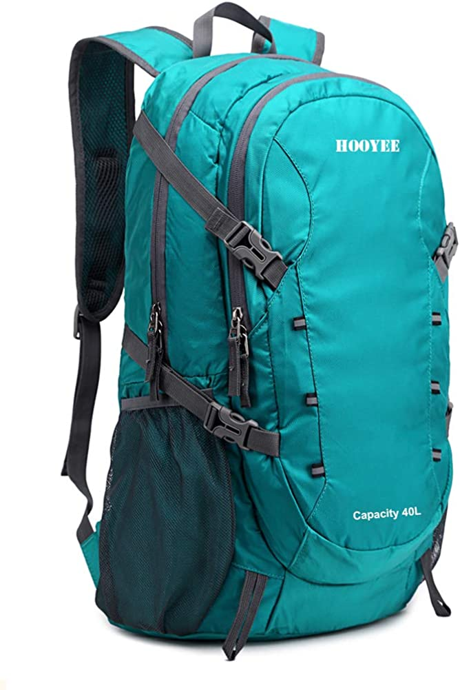 HOOYEE 40L Lightweight Foldable Water-Resistant Ripstop Hiking Backpack Daypack
