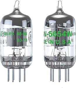 Vacuum Tubes 7-Pin 5654W Upgrade for 6AK5 6J1 6J1P EF95 Pairing Tubes 2PCS