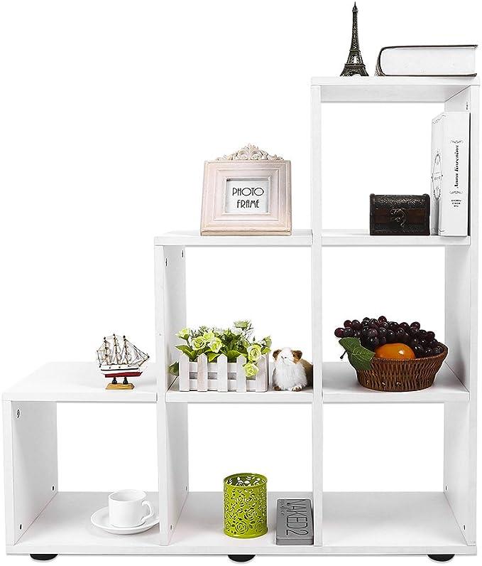 Estantería de almacenamiento, armario estantería para libros en madera 6 – Cajonera para oficina cocina dormitorio salón garaje 87 x 29 x 87,5 cm – 2 colores optionnelles: Amazon.es: Hogar